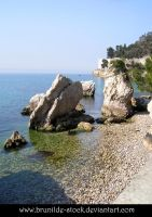 Miramare - Rocks 1 by brunilde-stock