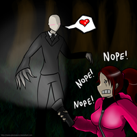 Slender Man - I Want you Claire ~ by GlacierAura