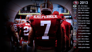 Kaepernick Wallpaper with 2013 schedule (EST) by SanFran49er