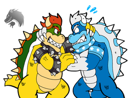 Commission: Koopa Wrestling by Chibi-Tediz