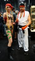 NYCC'14 Cammy and Ryu by zer0guard