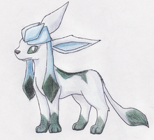 Azure Glaceon by GoldFlareon