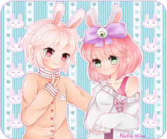 .Bunnies. by lNeko-Hime