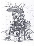 Pantheon and Leona by HrduiN