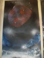 Spray paint Space art 3 by THEBIONICBOI