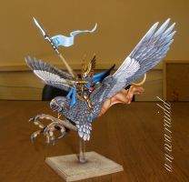High Elves Prince mounted on Griffin by Anwaraidd