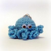 Mini Octopus Keyring Bag Charm by EssHaych