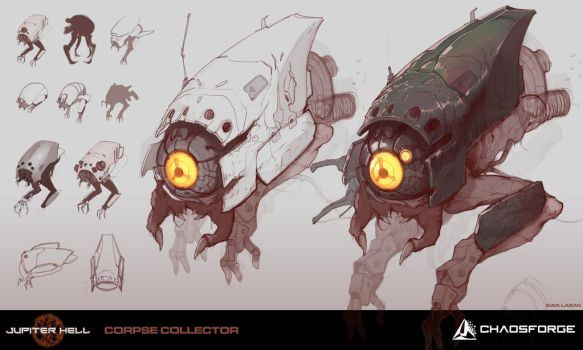 Jupiter Hell - Corpse collector concept art by EwaLabak