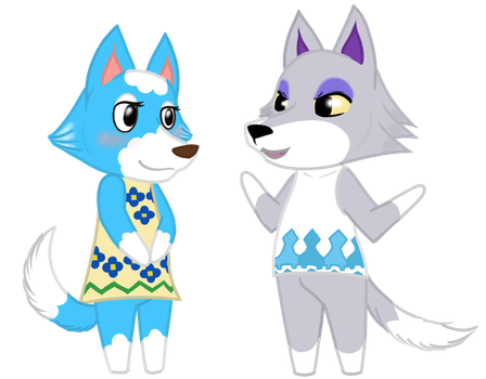 Skye and Fang from ACNL by Cryssy-Crys