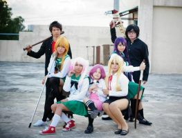 High School of the dead group cosplay by YumiLyra