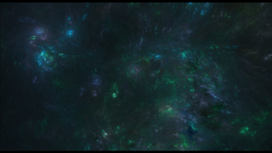 Green and blue galaxies by Fenixiie