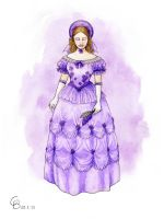 Romantic Lilac Dress by Yosephyne