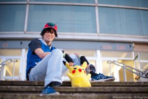 Ash and Pikachu by Imriel87