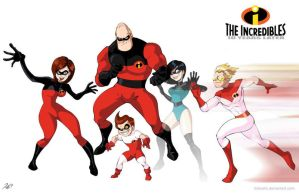 The Incredibles 10 years later by RickCelis