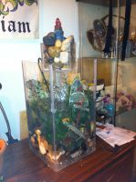 Vertical Fish Tank with water Feature by Tahirbrown