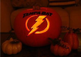 Tampa Bay Lightning Pumpkin by BSGfan4evr
