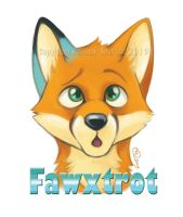 Fawxtrot Badge Commission by GoldenDruid
