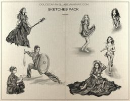 Sketches  stock by DolceCaramella
