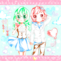 Pastel Hearts by Colorful--Melody