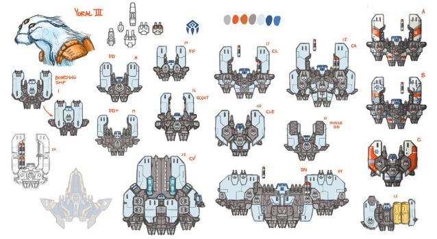 Stars in Shadow: Yoral Design Thumbnails by AriochIV