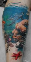 Underwater Scene - Session by allentattoo