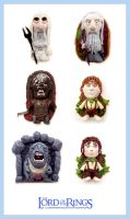 Lord of the rings Charms SET - CLAY Sculptures by buzhandmade