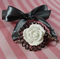 Romantic Rose Ribbon Bracelet by FatallyFeminine