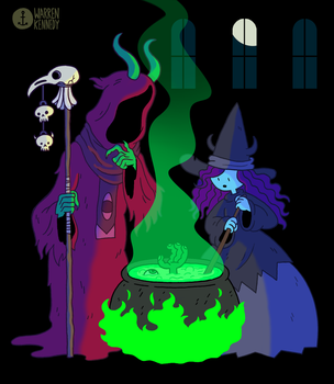 13 Days of Halloween 2016 #6-7: Sorcerers by Anchortoon