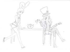 The Mad  HatTeR Sketch by t-tasha