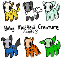 Baby Masked Creature Adopts 3 closed by RCAdopts