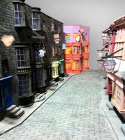 Diagon Alley - 01 by Brunasc