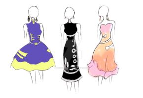 Band Geek Prom Dresses 2 by theghostlyartist