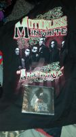My Motionless in white shirt and cd I am so happy by therealmavisdracula