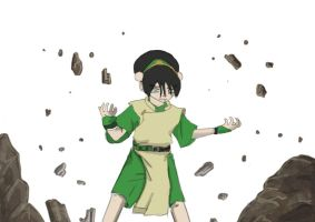 Toph in progress 2 by AtomicWarpin