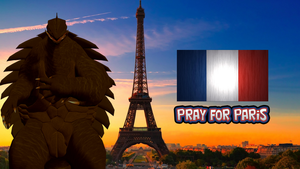 Gamera Prays for Paris by KingAsylus91
