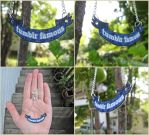 Tumblr Famous - Text Banner Necklace by Tsurera