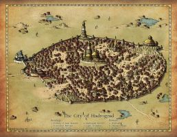 Commission 2016: The City of Hadrograd by Traditionalmaps