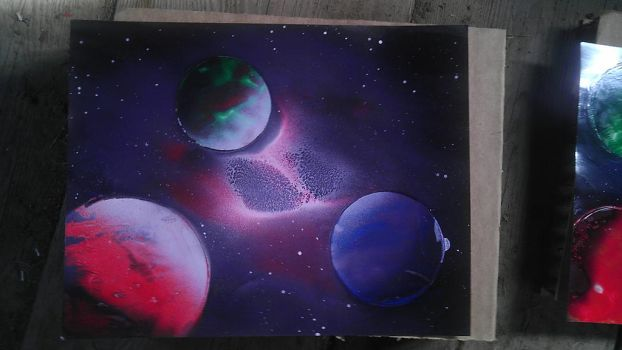 Starry spray painting 3 by UltraYoshi2000