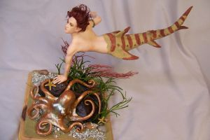'Marinus' ooak shark merman by AmandaKathryn