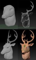 Mystic Deer Concept Process by MasonCerulean