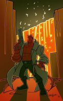 hellboy by enolianslave