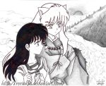 inuyasha and kagome by RerinKin