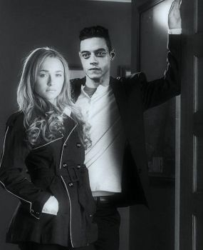 Hayden Panettiere  And Rami Malek by Lightningfarrondevil