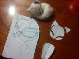 Sleeping fox,mini plushie patterns by ShioriAtzuko