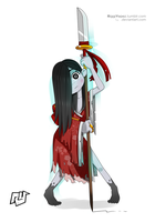 Hisako - Killer Instinct by RiggiYepez