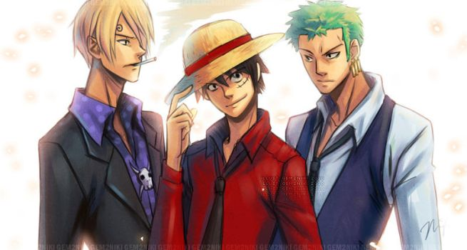 One Piece - Monster Trio by gem2niki