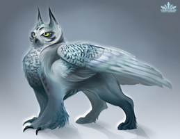 Avalanche the Owl Griffin by IceBanshee