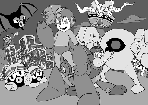 Mega Man tribute by supersexyman