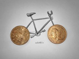 Competition (Bike and Coins) by BenHeine