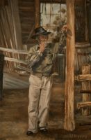 The Blacksmith Shop detail 2 - Oil Painting by AstridBruning